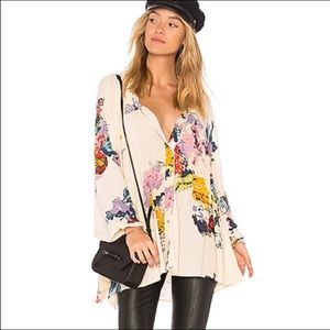 NWT Free People Meadowlark Floral Buttondown Small